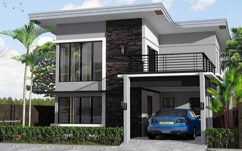 4 Desain Rumah Minimalis 2 Lantai