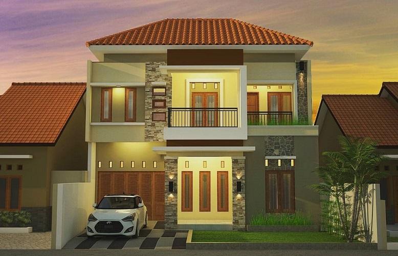 Model Rumah Minimalis 2 Lantai Tampak Depan Green Pramuka City